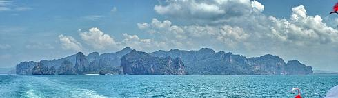 Krabi Railay Thailand Panoramabild